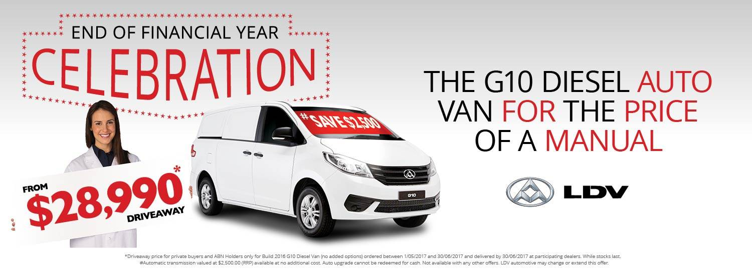 LDV Australia G10 Diesel One Tonne Van IS here. Packed with features and a very low price.