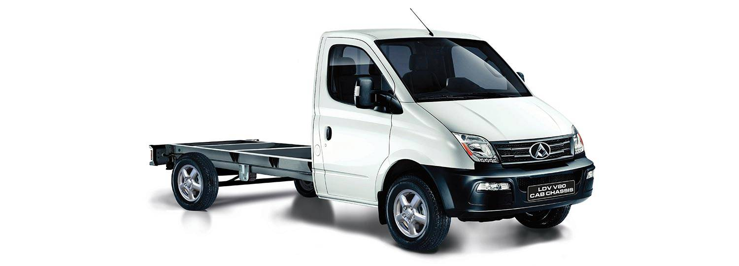 LDV V80 Cab Chassis can be customised for you load carrying needs.