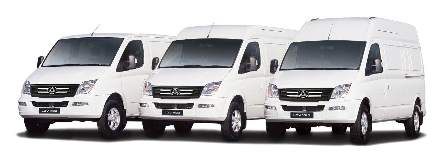 The LDV V80 large van range. We have a size to suit every load.